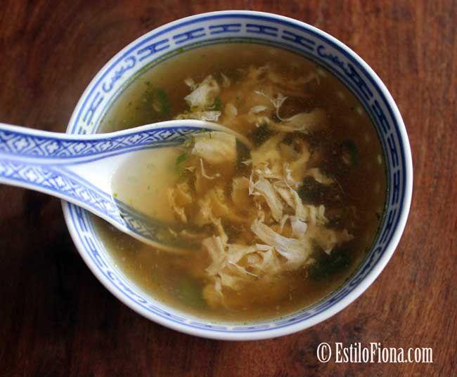 sopa china con huevo