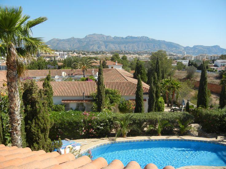 Rooftop view from La Crisalida Yoga Retreat in Albir ,Spain