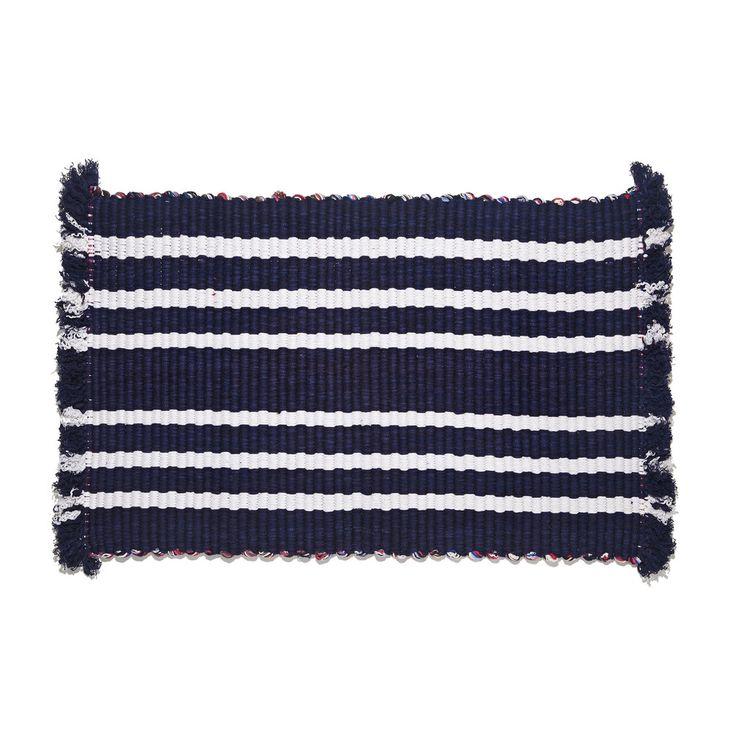 Oblin Striped Cotton Mat