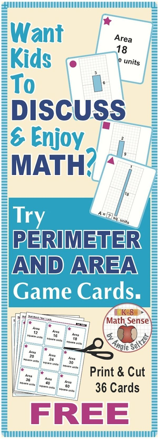 29 best FREE K-8 Math Card Sets & More images on Pinterest | 4th ...