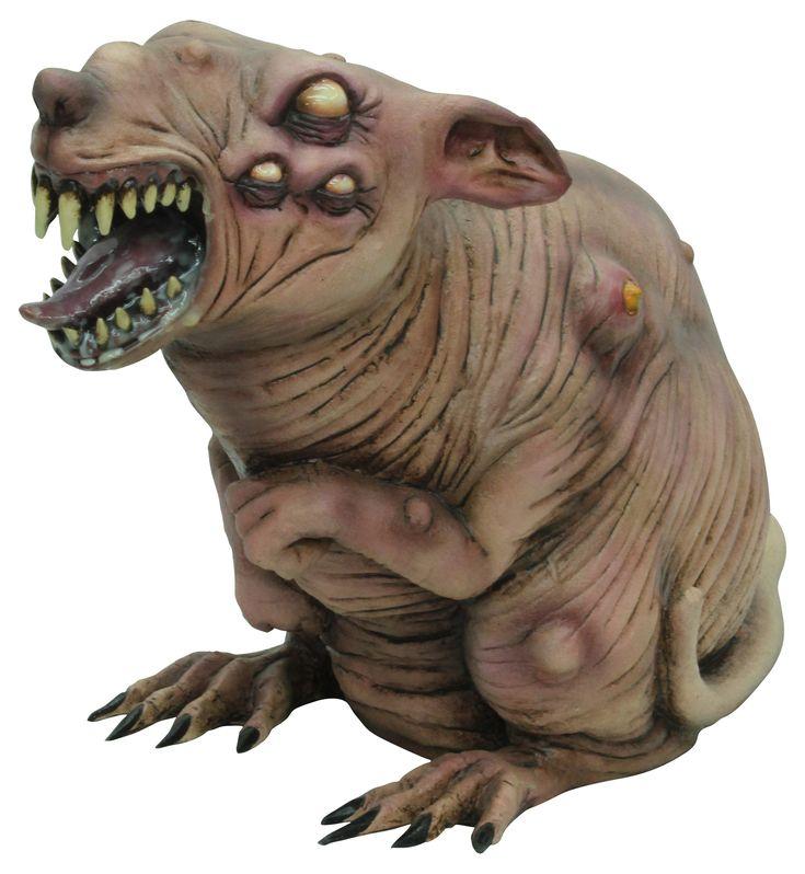 Zombie rat voor Halloween: Rat van 30 cm!