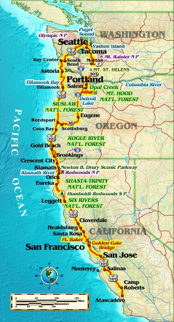 California coast motorcycle routes