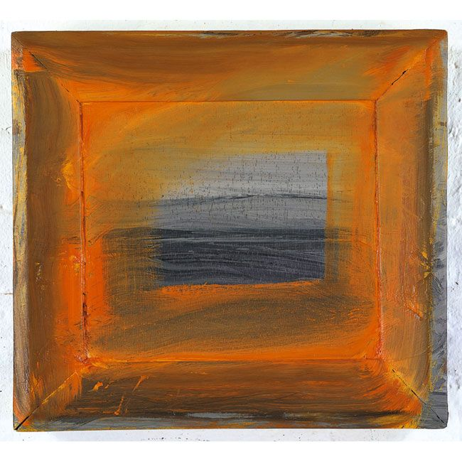 "Howard Hodgkin - The North Sea - 2000 - ""I've never painted an abstract picture in my life"" proclaims Hodgkin. I love his free use of the figurative and that his painting can not be contained by it's frame"