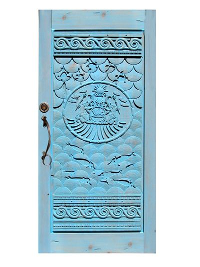 hand carved doors | Hand Carved Door - Designed With Customer Instruction - 3219HC