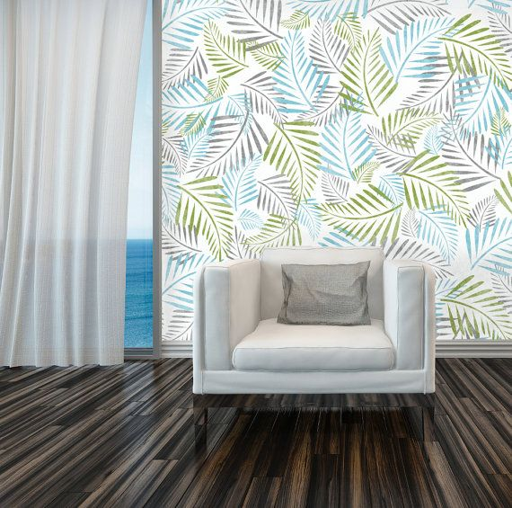 Amazing The Palm Leaf Stencil Can Be Used On Its Own To Create A Stunning  Feature Wall With Garden Stencils For Walls