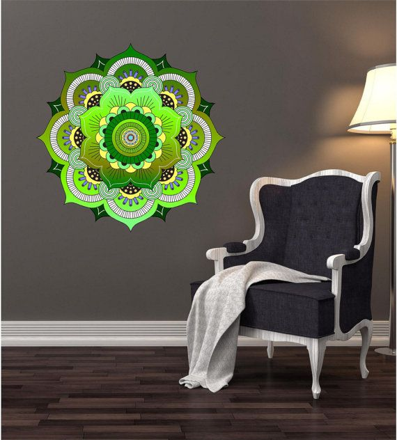 The 25 best ideas about mandala mural on pinterest for Decoration murale hipster