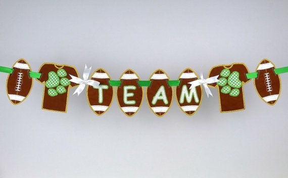Football Banner ITH Project Applique by BigDreamsEmbroidery