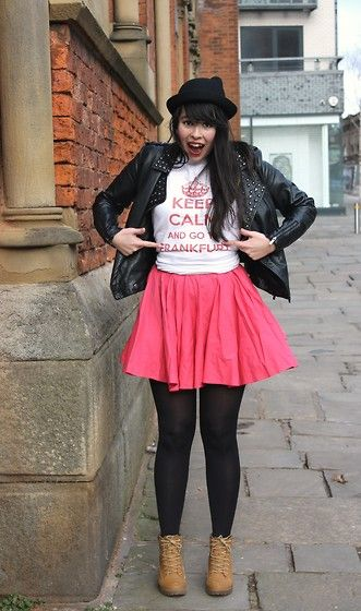 Get this look: http://lb.nu/look/7165028  More looks by Lauren Evans: http://lb.nu/pollzable  Items in this look:  Hyper Japan Hat, Primark Jacket, Frankfurt Top, River Island Skirt, Primark Boots   #frankfurt #manchester #unitedkingdom #winter2014