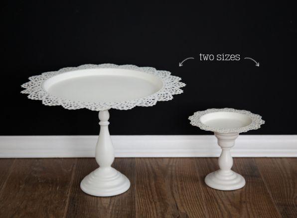 Kerzenständer + Skurar Tablett = coole Tortenhalter