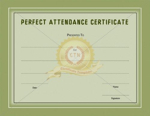 11 best images about Academic Award Certificates – Free Printable Perfect Attendance Certificate