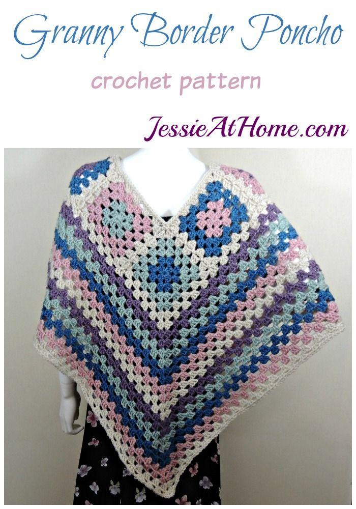 Granny Border Poncho   Pinterest