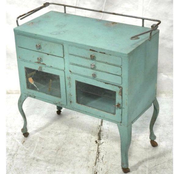 Medical cabinet  vintage industrial by AymiesAttic on Etsy