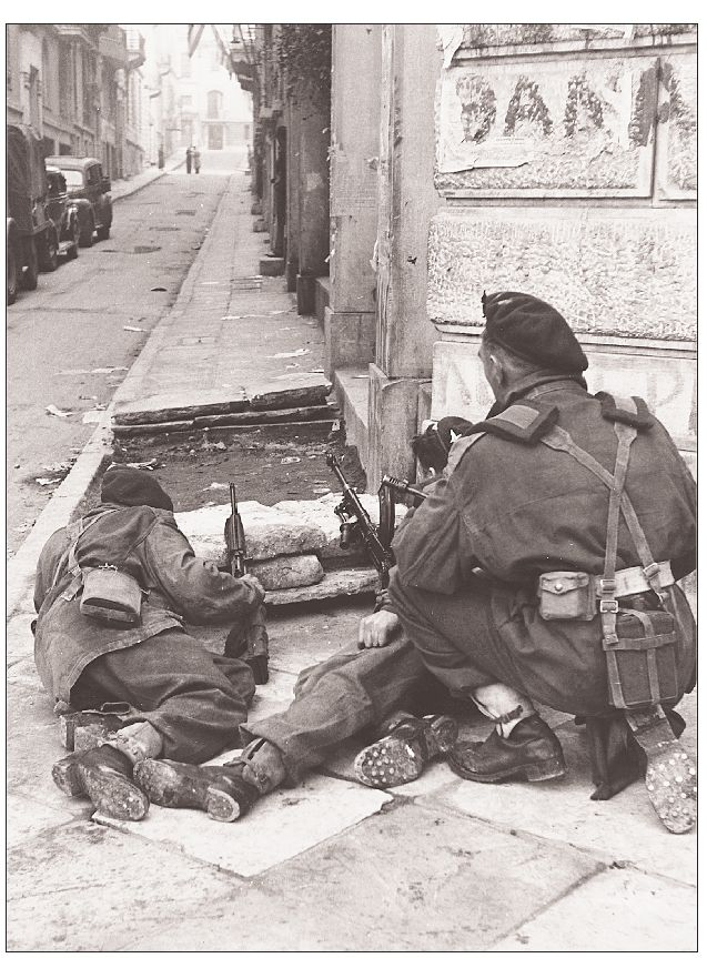 British paratroopers from the 5th Bn, 2nd Independent Parachute Brigade. Athens, Greece. 1945.