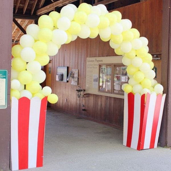 Carnival Birthday Party Theme Decoration Ideas / Carnival Birthday Background Decors/ Stage Decorations Circus Popcorn Balloon Arch