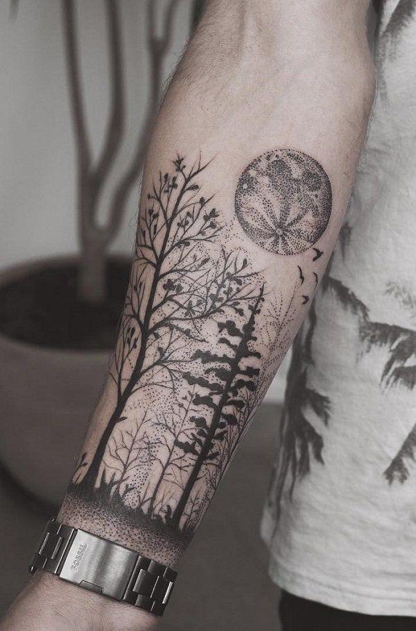 Forest forearm tattoo - 110  Awesome Forearm Tattoos  <3 <3