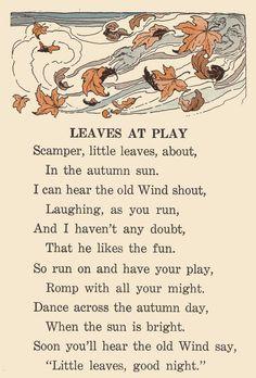 autumn children's poem - Google Search
