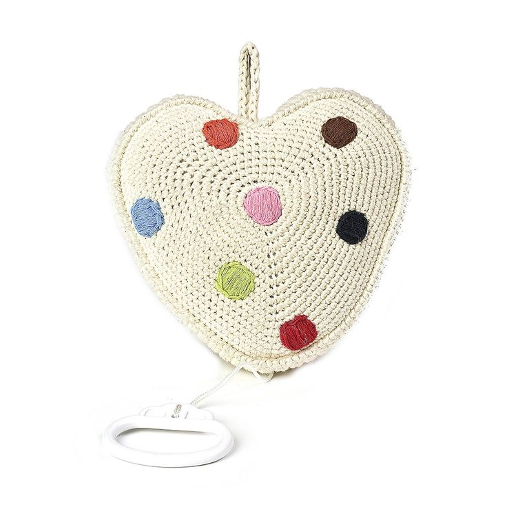 Discover the Anne-Claire Petit Crochet Heart Music Box - Natural at Amara