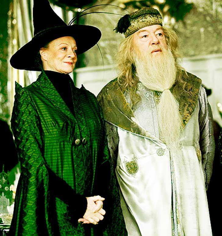 Professor Minerva McGonagall and Albus Dumbledore