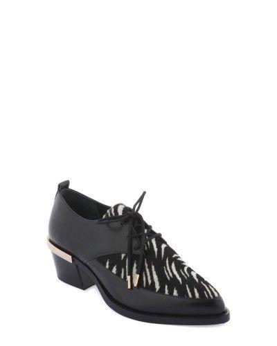 Creepers - Beade - Toutes les chaussures - Collection chaussures Femme - Noir Blanc - Noir Bleu