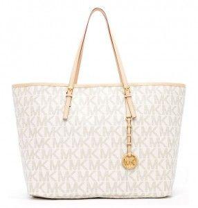 66f99143d bolsa michael kors jet set travel logo medium tote vanilla fallon medium  shoulder bag