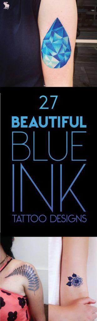 27 Beautiful Blue Ink Tattoo Designs | TattooBlend