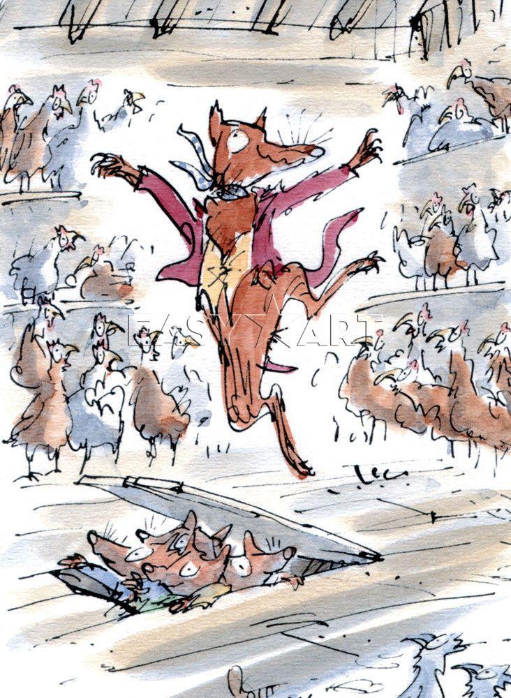 Roald Dahl - Fantastic Mr Fox Poster by Quentin Blake Easyart.com