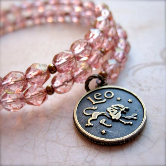 Leo Zodiac Bracelet, Lion by PaganucciDesigns on Etsy. Get in depth info on Leo personality and characteristics at http://www.examiner.com/article/the-leo-sign-leo-traits-personality-and-characteristics