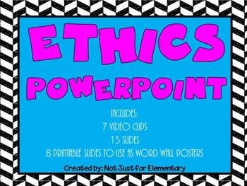 This is a fun, engaging lesson for teaching ETHICS that your students will be sure to enjoy! 6 Ethical Tests with video examples of each. Perfect for character education (grit) or professional communication.