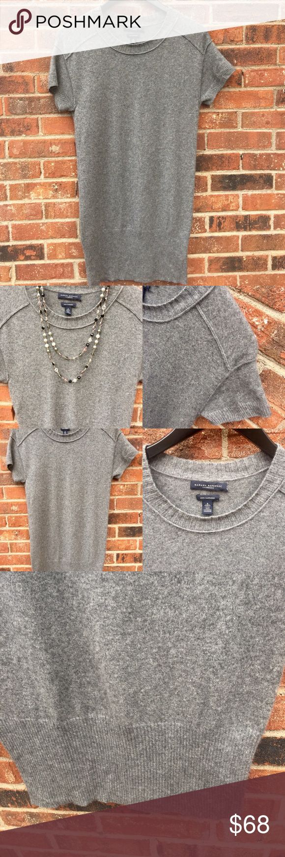 Banana Republic 100% Cashmere Sweater~ Size Small Excellent pre worn condition! Pair with leggings, scarf & boots or tights, heels & jewelry. Perfect any way you choose! 100% Cashmere round neck sweater/dress no noticeable stains or flaws! Banana Republic Dresses Midi