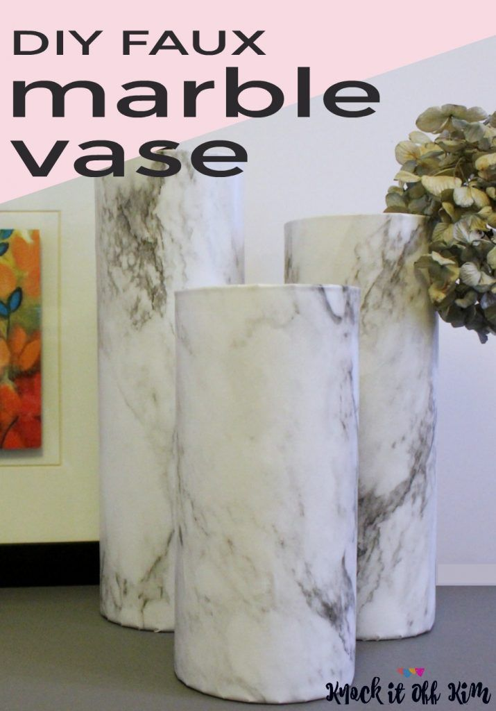 How To Make A Gorgeous But Easy Diy Faux Marble Vase Marble