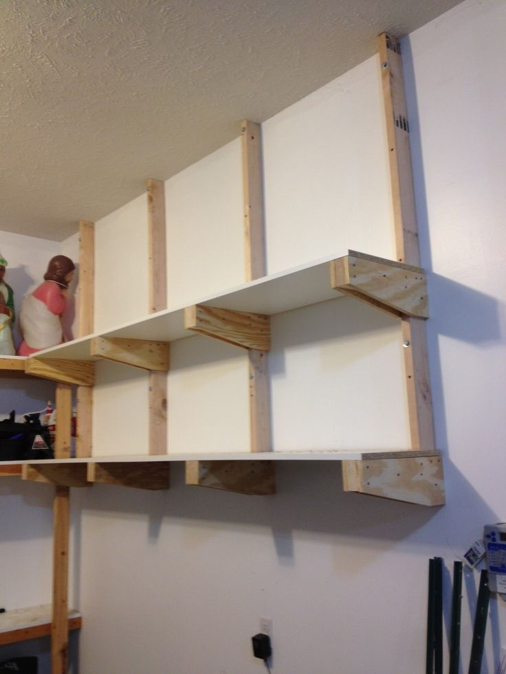 Garage shelves to keep your small appliances small statue for Garage shelf design