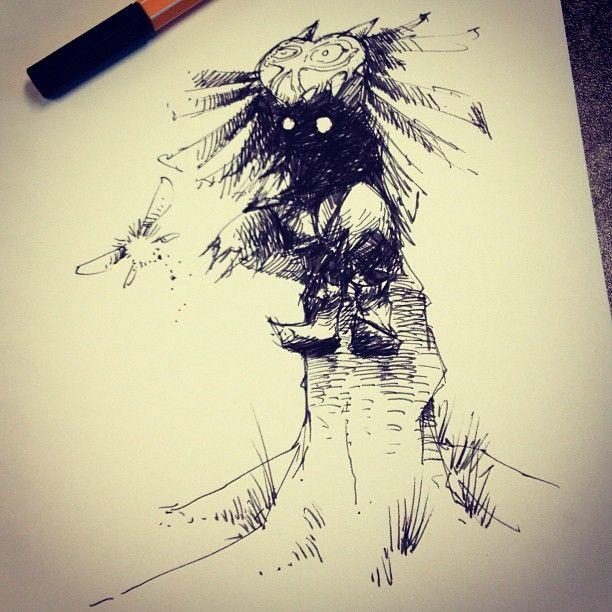 Skullkid - The Legend of Zelda: Majora's Mask - Ink drawing by jovendor