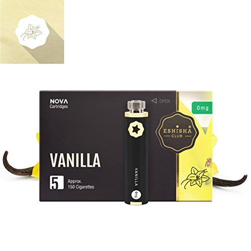 awesome KNUQO NOVA Flavour Refill 5 Pack - Vanilla Flavour | Rechargeable E-cigarette Starter Kit Pen | e Hookah | Nicotine Free | e Shisha | eShisha Club | Pharmaceutical Blister Packaging  buy now     £12.99  Rechargeable e Cigarette / eShisha / e Liquid Flavour Cartridge Refill Style e Cigarette  eShisha Club NOVA 2.0 Flavo...12.99