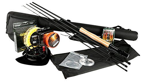 Fishing UK - Goture Fly Fishing Rod and Reel Combos Fit Saltwater Freshwater 5/6 and 7/8 for Beginner and angler with Fly Line Fly Lures Full Kit with Rod Case