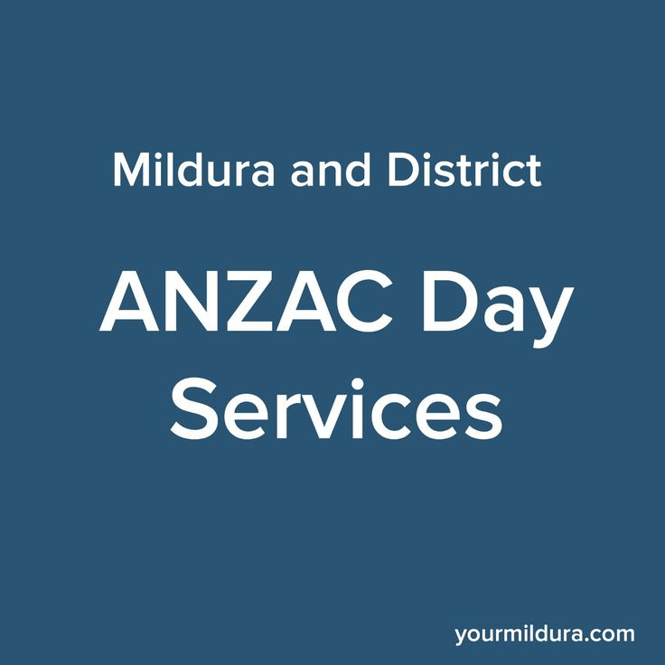 A guide for the Anzac Day Services in #Mildura and surrounds, this Tuesday 25 April. Lest We Forget