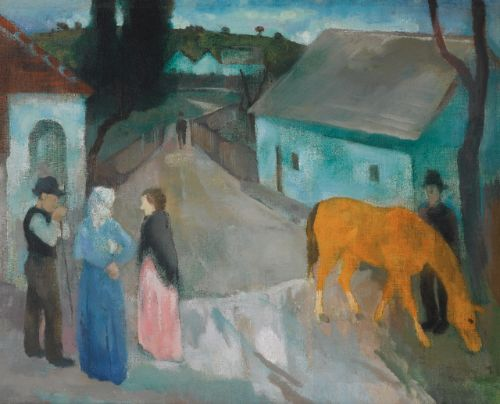 István Szönyi (1894-1960). A village road.