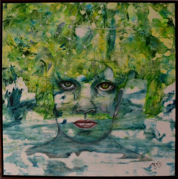 2015 Lesní víla/Forest fairy/100x100cm, acryl,, www.mls-art.cz