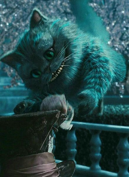 """Goodbye, Precious Hat."" Cheshire Cat from Alice in Wonderland (2010)"