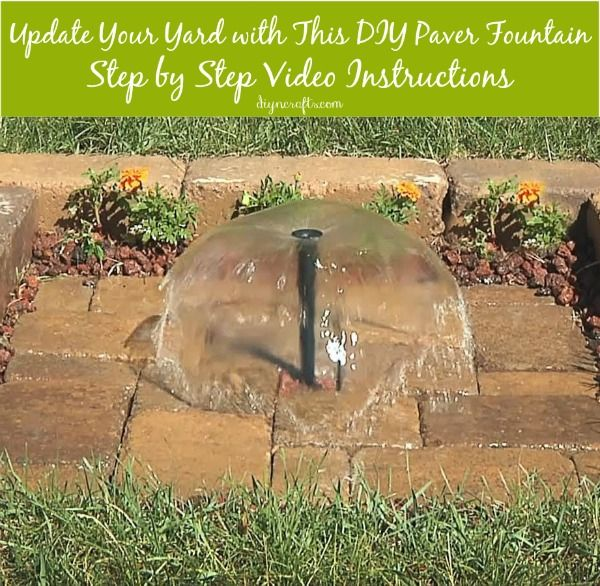100 best diy fountains images on pinterest water features water update your yard with this beautiful diy paver fountain solutioingenieria Images