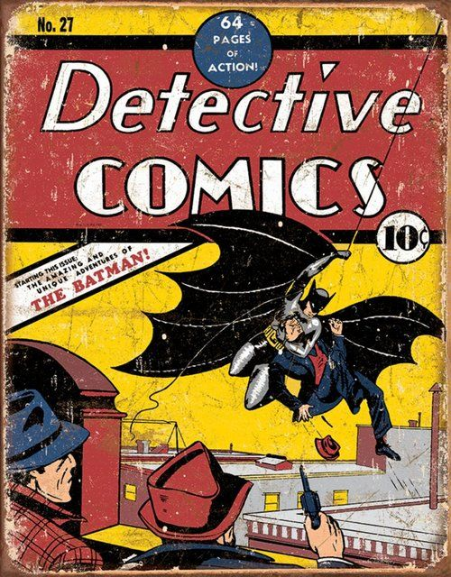 Batman Detective Comics #27 Tin Sign
