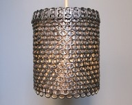 soda can tabs! amazing...