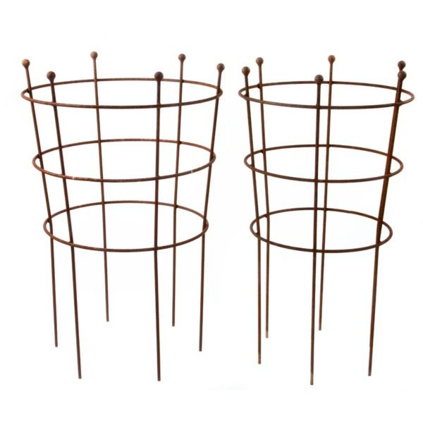 Three Ring Herbaceous Supports   Herbaceous Plant Supports   Traditional  Plant Supports And Trellis