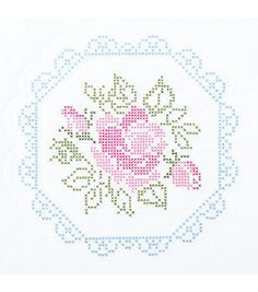 Create a delightful quilt top for your home with the Jack Dempsey Needle Art Stamped White Quilt Blocks 18 x 18. These stamped quilt blocks feature a lovely design in washable ink, so just put your ha