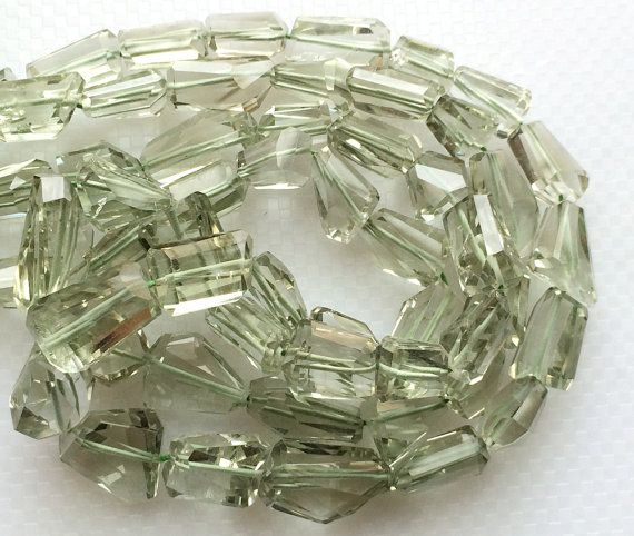 Green Amethyst Beads Faceted Tumble Beads Step by gemsforjewels