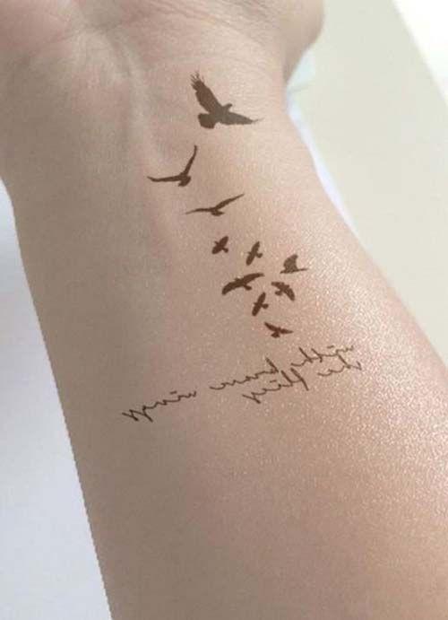 bird tattoo qoutes yazı ve kuş dövmesi