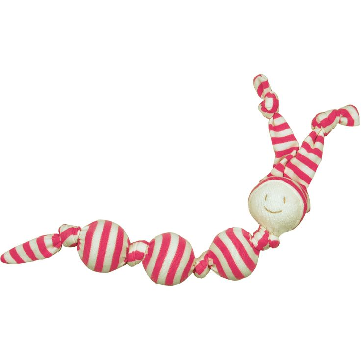 Keptin-Jr Rattle Sneeky Fuschia – European designKeptin-Jr Rattle Sneeky Fuschia was born out of children's drawings, the toddels shape is simple. They all have long ears or a long tail which children love to chew on or play with making them an ideal organic teething toy. Toddels are like humans, they like to play. Their soft cotton and warm sheep's wool makes them a great companion for babies, toddlers and preschoolers. Fabrics: 100% Certified Organic Cotton