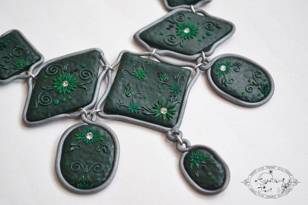 emerald green, gift for her, filigree necklace, wonderful necklace, rhinestones, handmade necklace, green filigree necklace, filigree