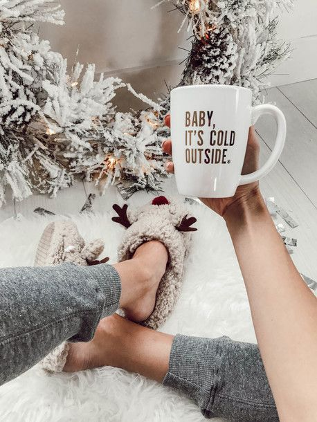 Shoes: tumblr slippers slip on slide holiday season holiday gift christmas cup mug quote on it
