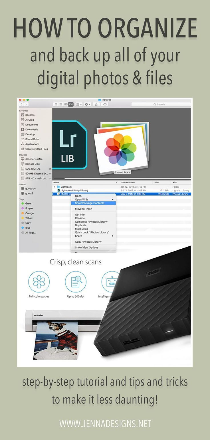 How To Organize And Back Up Your Digital Images Jennadesigns Photo Organization Digital Photo Digital Image