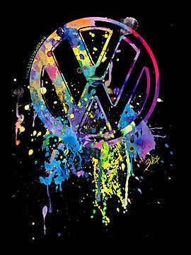 VW Emblem - Splatter by blulime (tattoo idea)